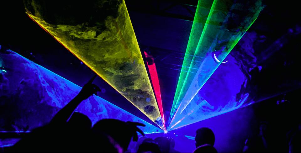 Meerkleurige laserstraal EQS Licht en geluid huren